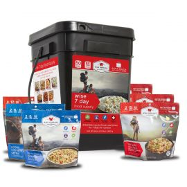 Wise 7 Day Food Supply Bucket (Camping Pouches)