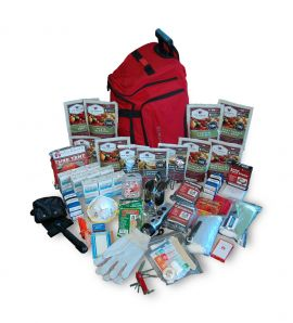 2 Week Deluxe Survival Backpack 27 lbs 20x16x10 (RED)