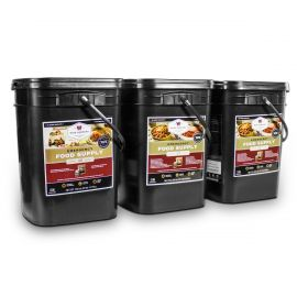 360 Serving Package - 62 lbs - Includes: 2 - 120 Serving Entrée Buckets and 1 - 120 Serving Breakfast Bucket