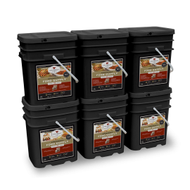720 Serving Package - 120 lbs - Includes: 3 - 120 Serving Entrée Buckets and 3 - 120 Serving Breakfast Buckets