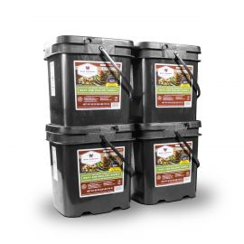 240 Serving Meat Package Includes: 4 Freeze Dried Meat Buckets