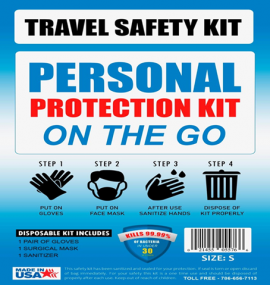 On the Go Covid 19 Pandemic Travel Kit