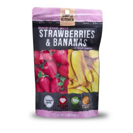 6 Ct Pack - Simple Kitchen Strawberries & Bananas 4 Serving Pouch